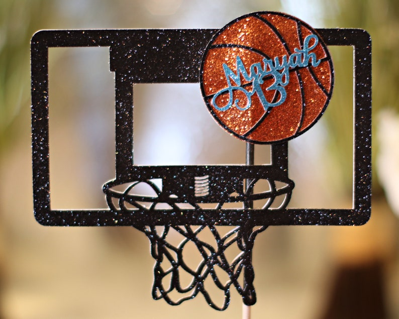 Basketball Cake Topper  Basketball Party Decorations  image 0