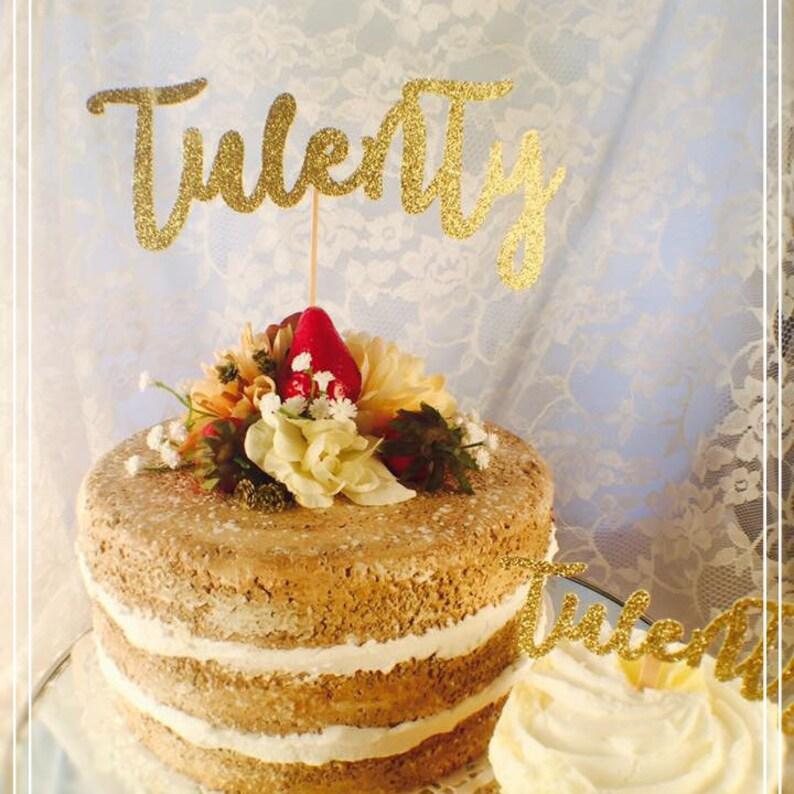 Twenty Cake Topper 20 20th Birthday
