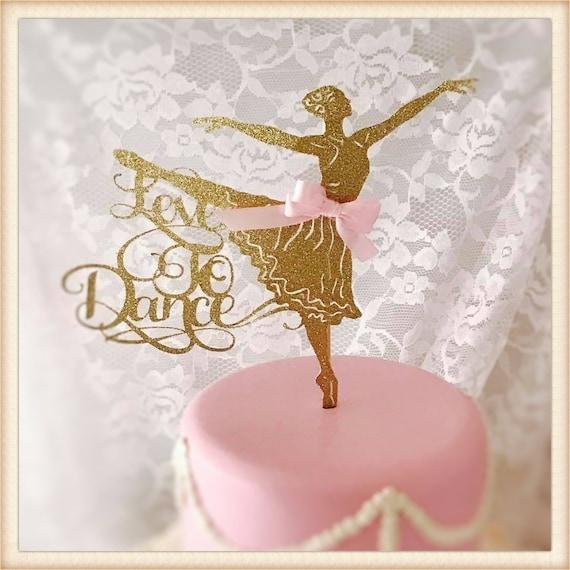 Ballerina Decor LT1050 Personalized Cake Topper Dance Girl Ballerina Dancer