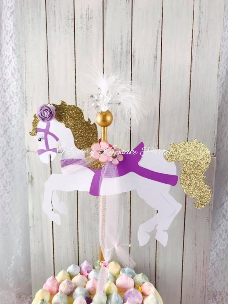 Carousel Horse Cake Topper Carousel Horse Birthday Party Etsy