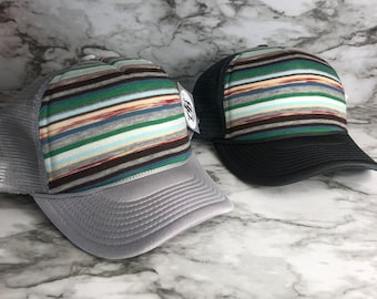 3662af6408115 New colorful skinney striped trucker hat