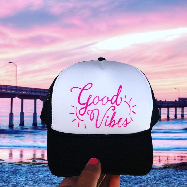 c65f66d5b Good vibes, Good vibes only, good vibes hat, good vibes fashion, good vibes  design, trucker hat, snapback, good vibes snapback