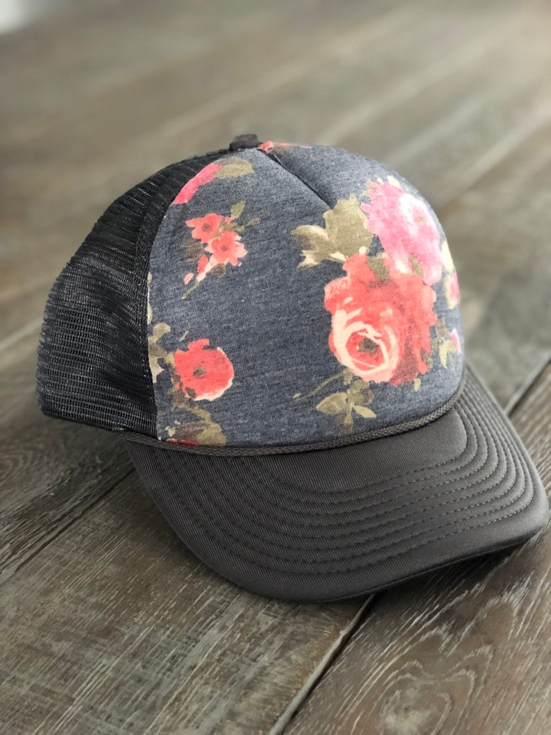 95a679969 Floral trucker hat, floral fashion, ariebdesigns, arieb hat, ariebdesigns  hat, trucker hat, beach trucker hat, free shipping
