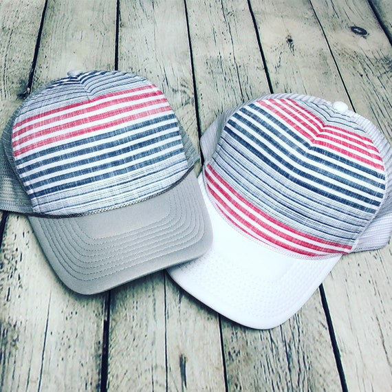 77ba7732af9 Best selling simple stripes design women s trucker hat.
