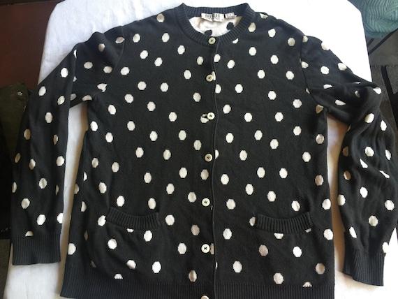 Retro Black Cardigan,Italy Sweater, Blass Sweater,