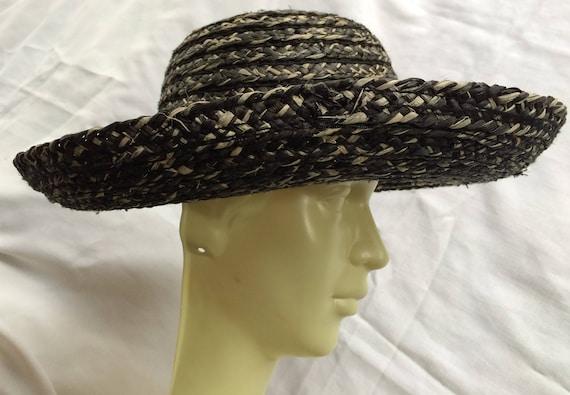 Straw Hat, Black Straw Hat, Shade Hat,Beach Hat,Su