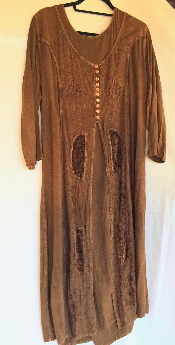 India Dress, Long Hippie Dress,Hippie Dress,Brown