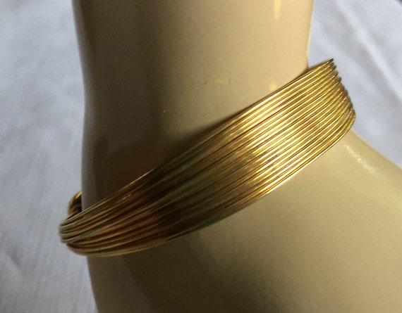 Gold Strand Bracelet, Gold Cuff Bracelet, Classy G