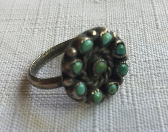 Turquoise Ring,Hippie Ring,Turquoise Stone Ring,N… - image 4