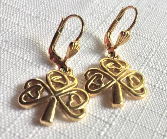 Irish Gold Earring, Irish Earring, Celtic Earring,