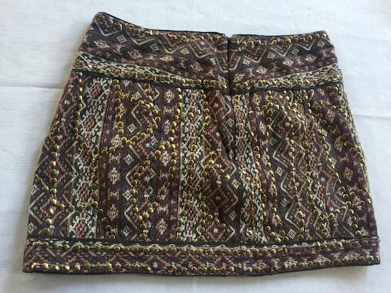 India mini skirt,Bead Mini Skirt,Exotic Mini Skir… - image 1
