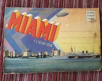 Florida Postcard,Florida Ephemera,Florida Landmark,Florida Memorabilia,Miami Card,Florida Art Card,Miami Souvenir,Miami Trip,Miami Beach