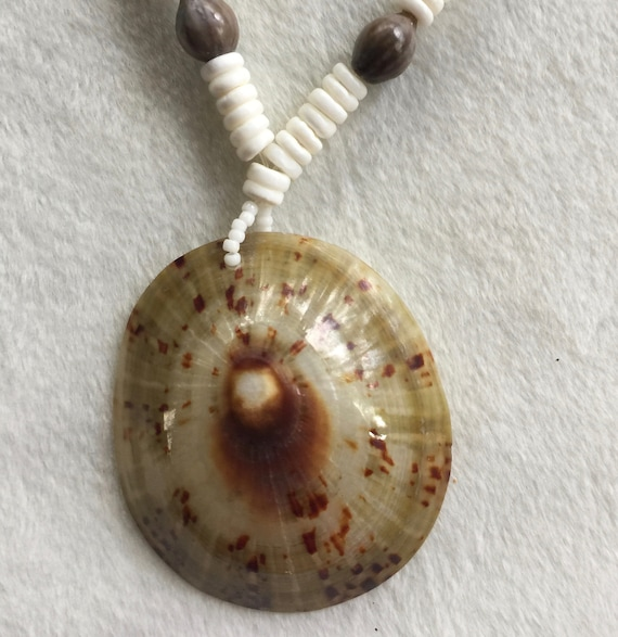 Big Shell Necklace, Shell Pendant, Beach Necklace,