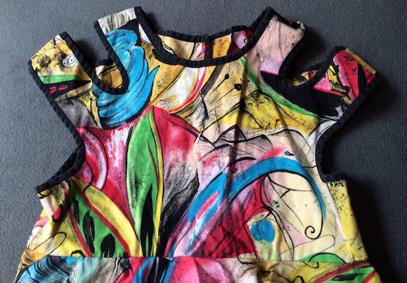 Retro Child Dress, Size 6, Art Dress, Boutique Chi