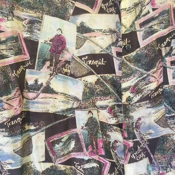 Silk Blouse, Silk Tunic, Silk Print Tunic, Long S… - image 6