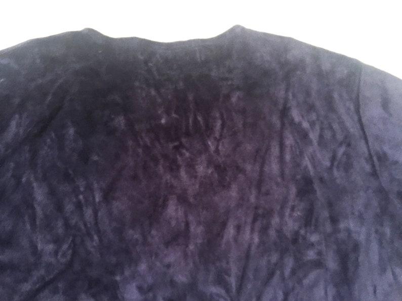 Navy Blue Velour Pullover Jones Wear Long Sleeve Dark Indigo Velvet Top Plush Knit Mod Winter Cozy Winter Blouse Soft Midnight Blue Dressy