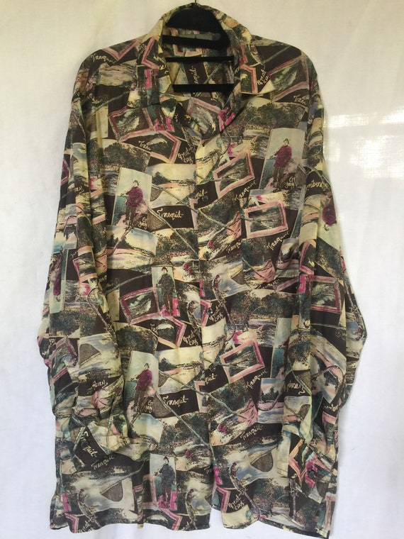 Silk Blouse, Silk Tunic, Silk Print Tunic, Long S… - image 2
