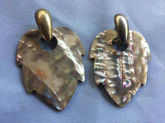 Abalone Earring, White Shell Earring,Mother Pearl