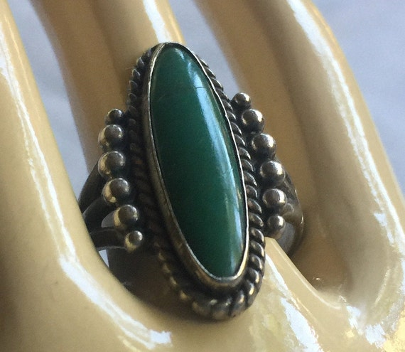 Turquoise Ring, Turquoise Solitaire, Oval Turquois