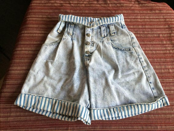 High Jean Short, High Denim Short, Cuff Jean Short