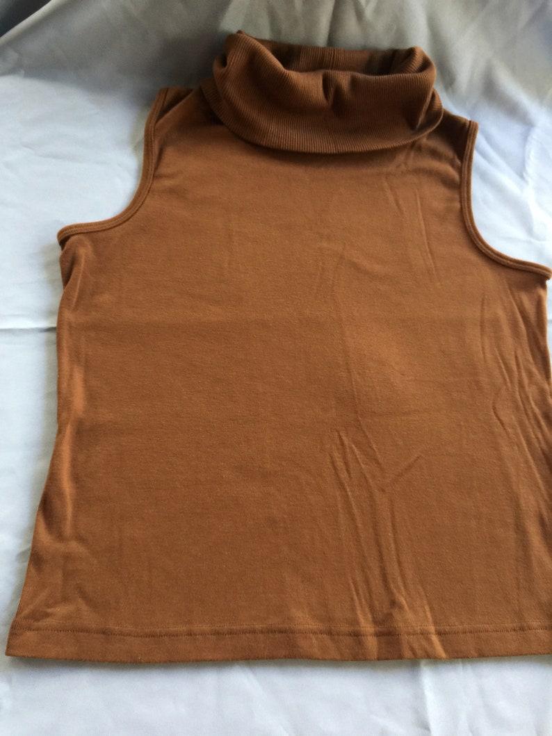 Brown Turtleneck Brown Top Brown Shell Sleeveless Knit Top Brown Knit Top Brown Sleeveless Top Sleeveless Sweater Brown Sweater Top