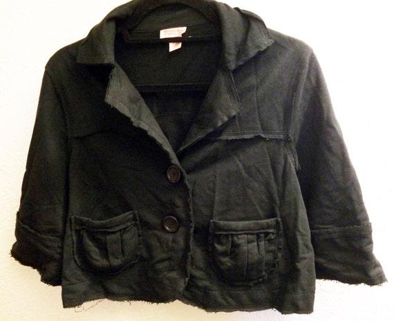 Black Jacket, Short Sleeve Jacket, Casual Jacket,B