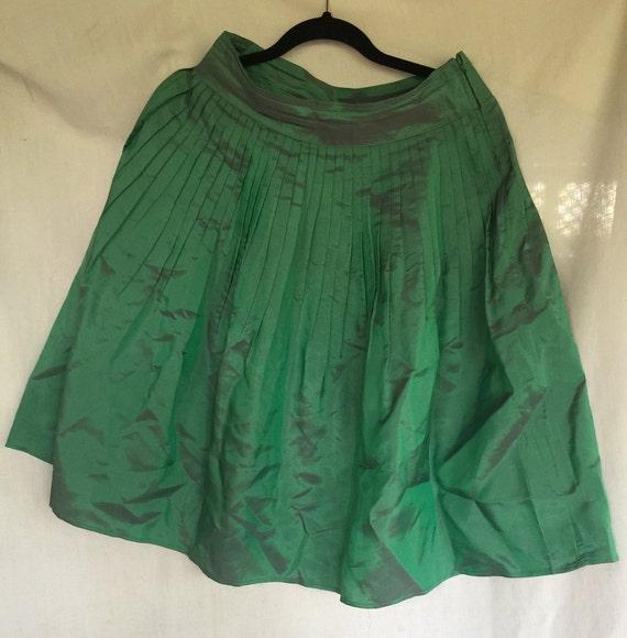 Green Skirt, Taffeta Skirt,Dressy Skirt,Green Part