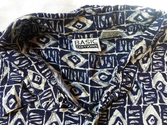 Retro Casual Shirt,Tropical Shirt,Rayon Shirt,Tik… - image 3