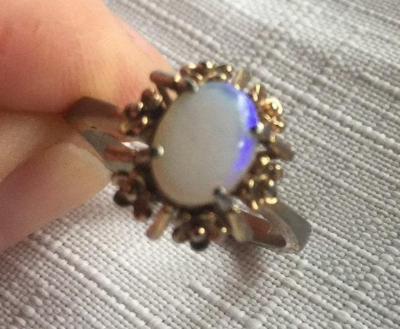 Opal Solitaire Ring,Opal Ring,Opal Solitaire,Oval