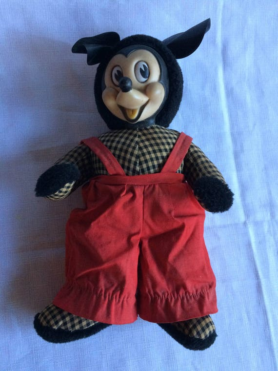 Mickey Mouse, Disney à collectionner, Antique Mickey, Mickey peluche Collector Mickey, peluche Mickey, des années 40 Disney, Disney Collection, Collection Mickey