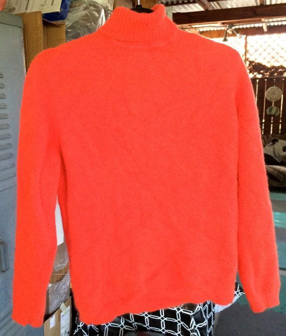 Angora Sweater, Orange Sweater,Orange Pullover,Ang