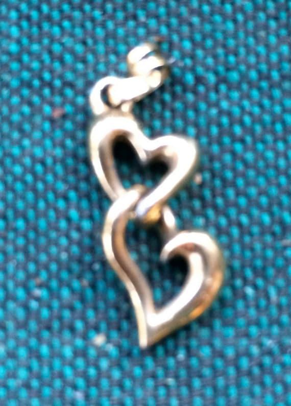 Heart Pendant, Two Heart Necklace,Double Heart Pen