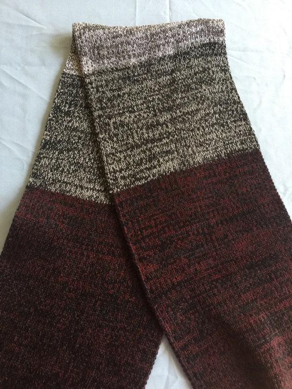 Long Knit Scarf, Quality Knit Scarf, Tweed Scarf,T