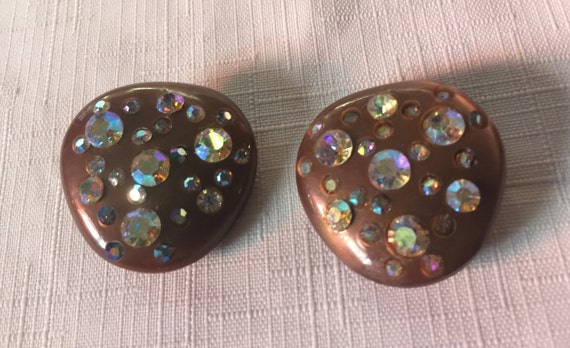 Brown 50 Earring,Brown Sparkle,Aurora Earring,Retr