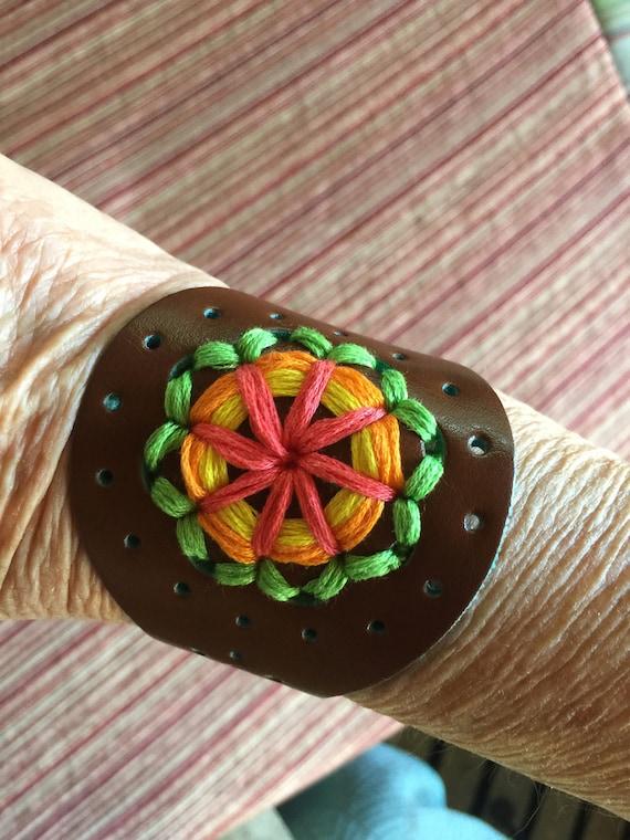 Leather Bracelet, Hippie Bracelet, Macrame Bracele
