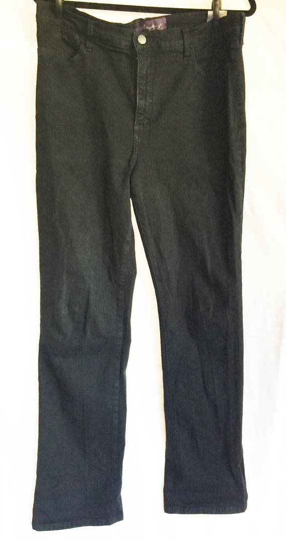 Black Jeans, Jeans Size 14,Black Stretch Jeans,Bla