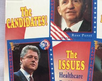 President Election,President Collection,1992 Political,1992 Election,Bill Clinton,George Bush,Political Trading,Election,Politic Collectible