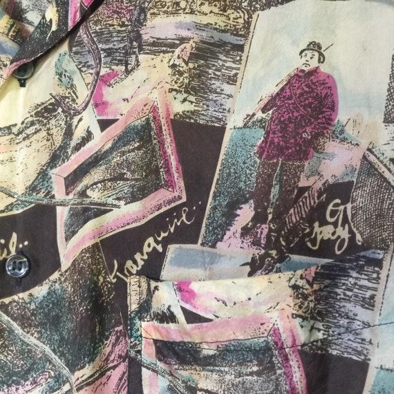 Silk Blouse, Silk Tunic, Silk Print Tunic, Long S… - image 5