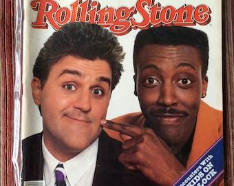 Jay Leno,Arsenio Hall,Leno Collectible,Arsenio Hall Collectible,Leno Art,Pop Star,Arsenio Hall Art,Rolling Stone Magazine,80s Magazine,564