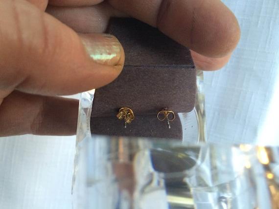 Diamond Earring, Diamond Stud, Cubic Zirconia Stu… - image 4