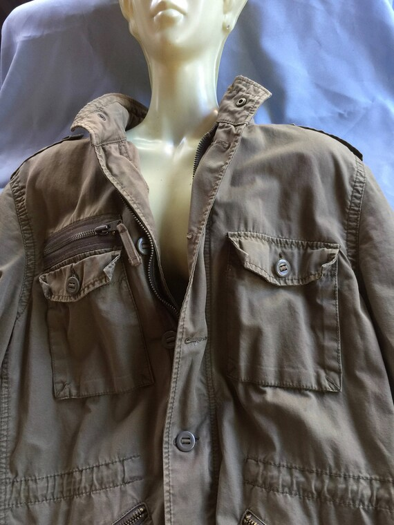 Khaki Jacket, Canvas Jacket,Skull Jacket,Express J