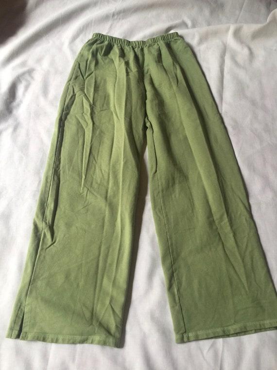 Green Sports Pants, Pale Green Pants, Green Gym Pa