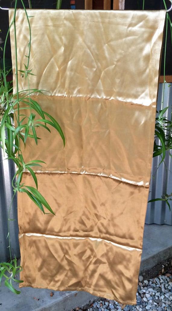 Gold scarf, Elegant Scarf, Metallic Silk Scarf, Dr
