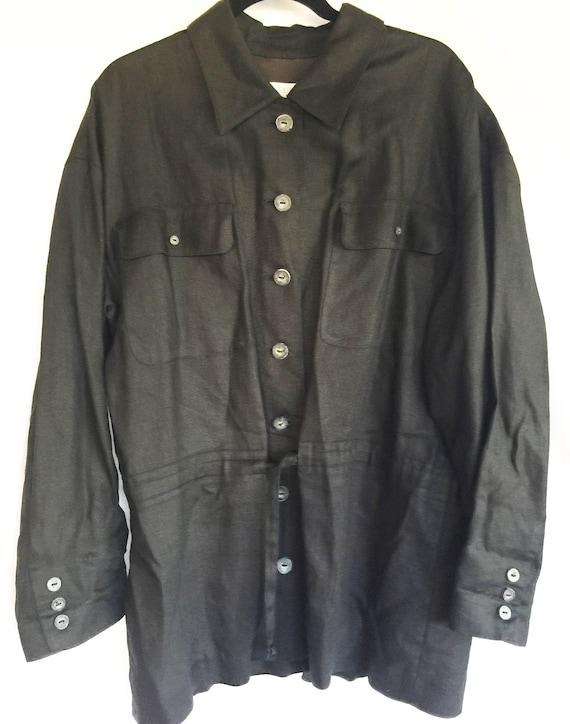 Black Linen Blazer,Black Jacket,Black Linen Jacket