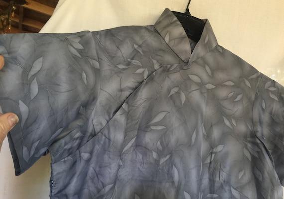 Asian Dress, Grey Asia Dress, Silky Asia Dress, Ch