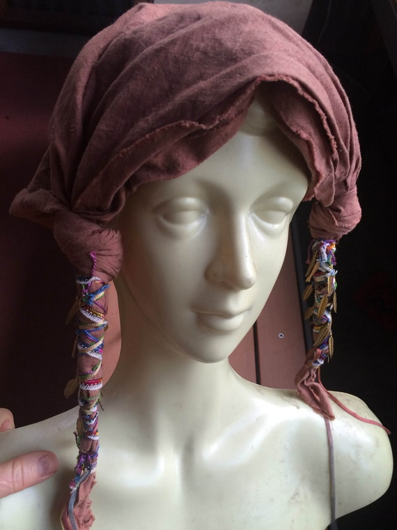 Hippie Headdress, Slouchy Head Scarf, Slouchy Head