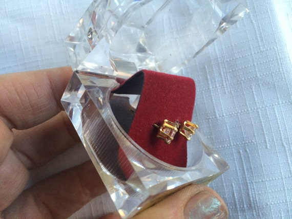 Diamond Earring, Diamond Stud, Cubic Zirconia Stu… - image 5