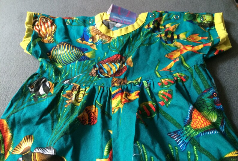 Fish Jumpsuit Multi-color Romper Fish Jumper Fish Bodysuit Summer Jumper,Cotton Bodysuit,Colorful Playsuit,Summer Playsuit,Fish Playsuit