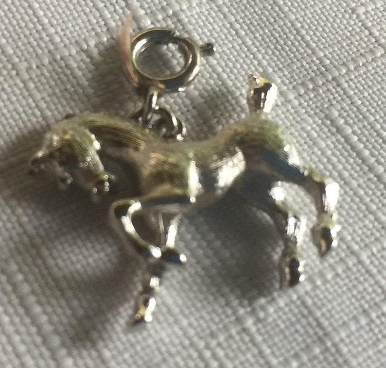 Horse Charm Silver Animal Charm,Silver Animal Pendant Silver Horse Charm,Horse Pendant,Horse Jewelry,Silver Pony Charm,Animal Charm