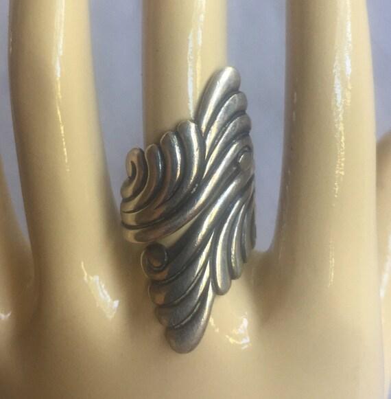 Silver Mexico Ring, Taxco Silver RIng, Mexico Wrap